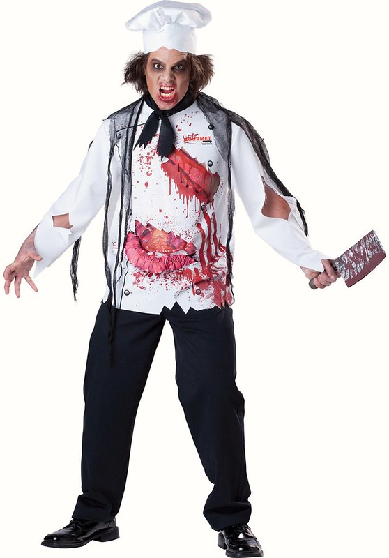 Stabbed in the back Tshirt White Top Adults Fancy Dress costume Halloween Scream