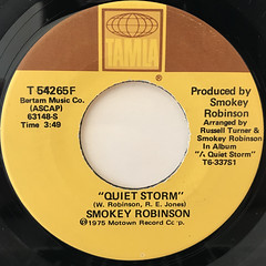 SMOKEY ROBINSON:QUIET STORM(LABEL SIDE-A)