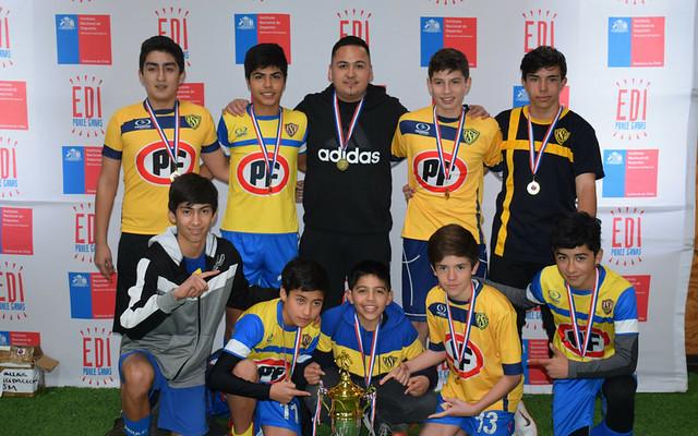 Selección SUB14 1° lugar Campeonato Regional FUTSAL
