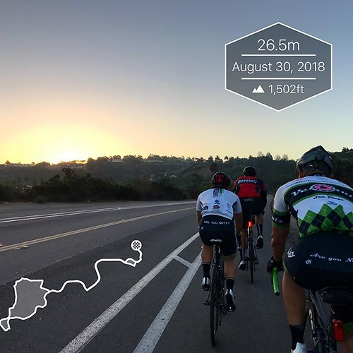 Sunrise on another VeloNutz Dawn Patrol ride. Slight chill in the air at the start this morning, fall must be coming.