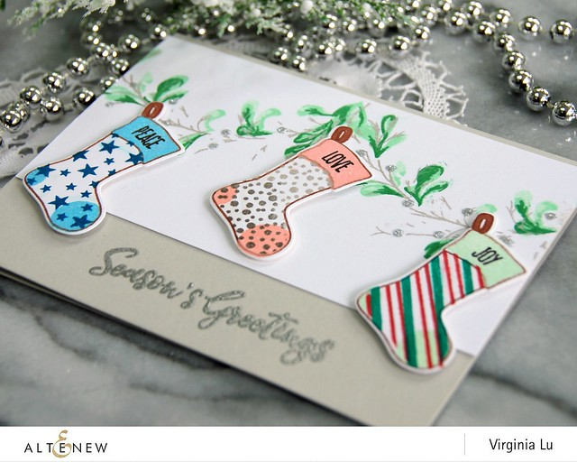 Altenew-ChristmasStockingsStampDie-BountifulBranch-Virginia#3