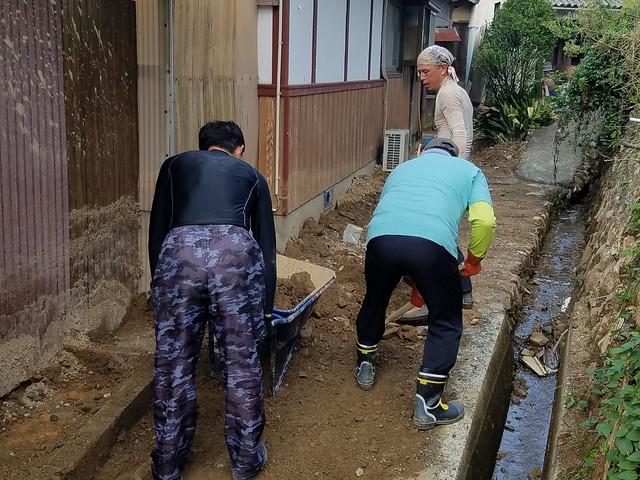 西日本豪雨災害 愛媛県西予市でボランティア(援人 2018年 0913-17便)