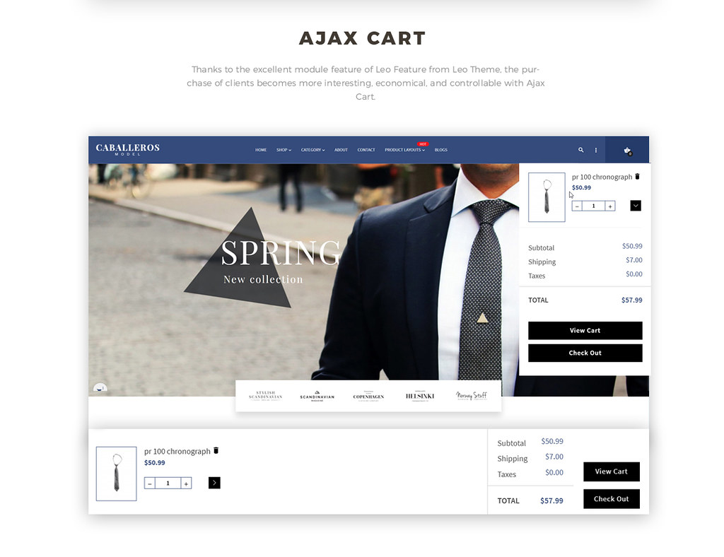 ajax add to cart - Prestashop 1.7 theme for fashion