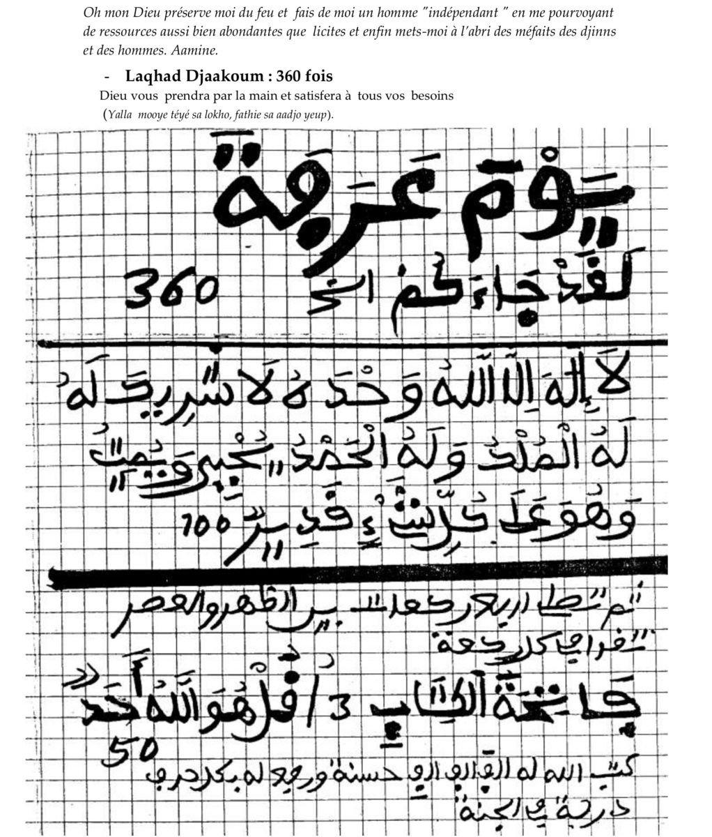 Recommandation jour Arafat2