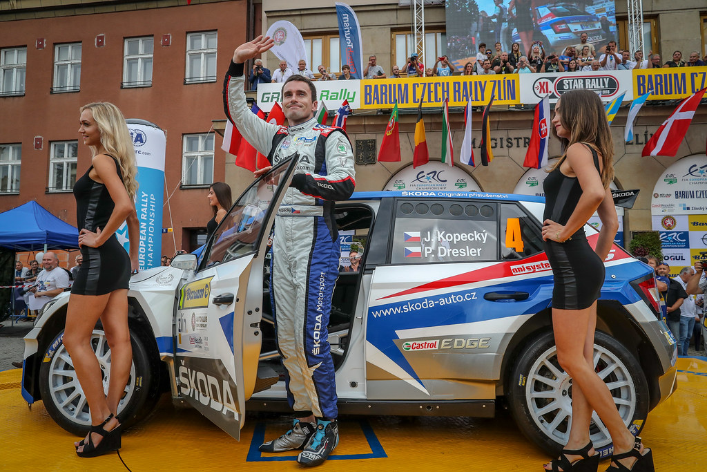 Kopecky Jan, CZE, Skoda Motorsport, Skoda Fabia R5, Portrait during the 2018 European Rally Championship ERC Barum rally,  from August 24 to 26, at Zlin, Czech Republic - Photo Alexandre Guillaumot / DPPI