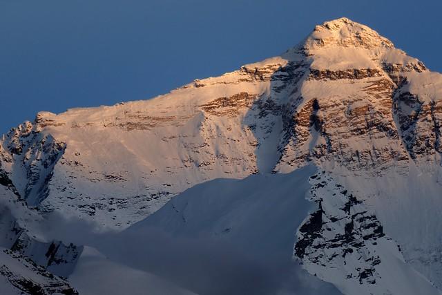 Mt Everest in sunset, Tibet 2017