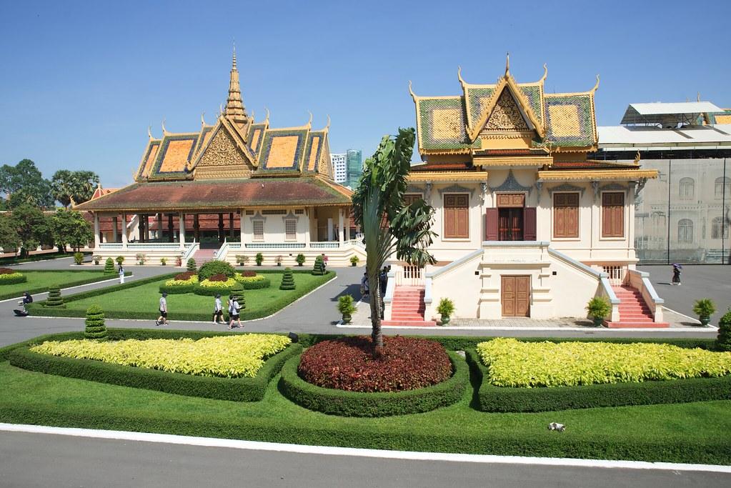 Palacio real en Phnom Penh Camboya. Algo obligado a ver