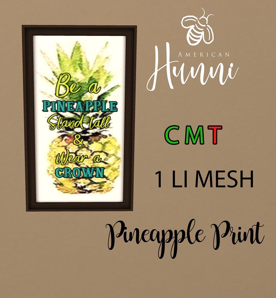 .ah. Pineapple Print