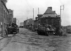 M5_And_M10_Wolverine_2nd_Armored_Division_In_Tesey_Sur_Vire_France_1944