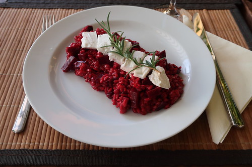 Rote-Bete-Risotto (meine Portion)