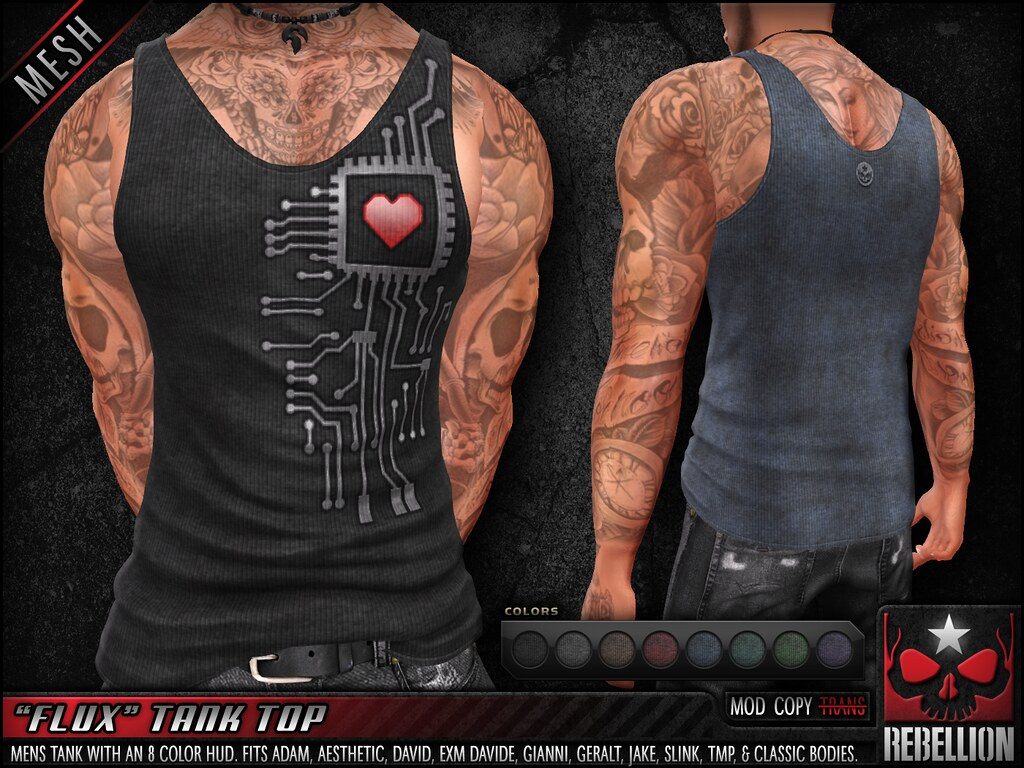 "= REBELLION = ""FLUX"" TANK TOP"