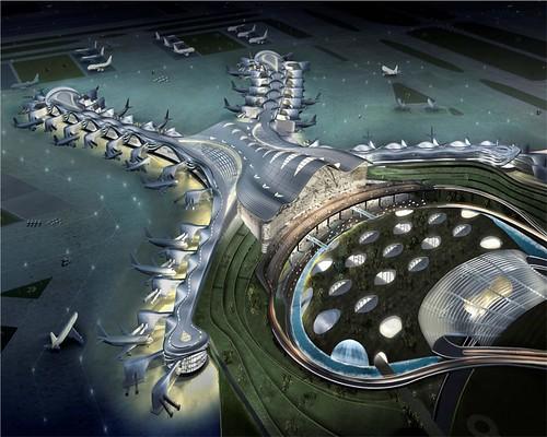 Abu Dhabi New International Airport pole