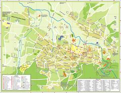 Большая карта Сокобани с улицами