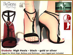 Bliensen - Diabolo - High Heels black