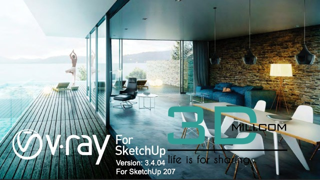 vray sketchup 3d model free download