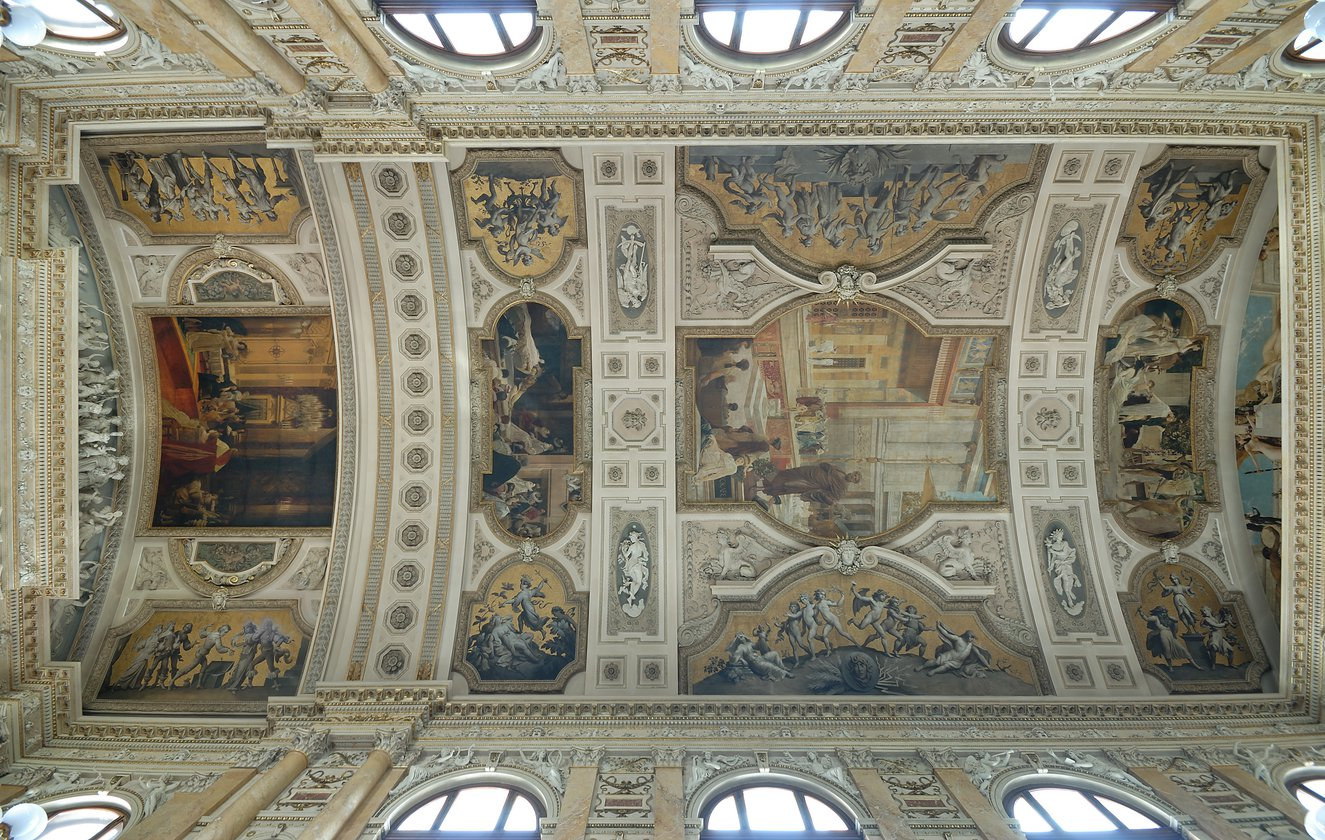 Ceiling frescoes at the Burgtheater in Vienna.