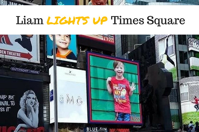Liam Lights Up Times Square!