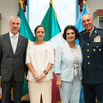 Thu, 09/20/2018 - 13:48 - On Thursday, September 20, 2018, the William J. Perry Center for Hemispheric Defense Studies honored General Salvador Cienfuegos Zepeda, Secretary of National Defense of Mexico, and Escola Superior de Guerra (ESG), National War College of Brazil, with the 2018 William J. Perry Award for Excellence in Security and Defense Education. Named after the Center's founder, former U.S. Secretary of Defense Dr. William J. Perry, the Perry Award is presented annually to individuals who and institutions that have made significant contributions in the fields of security and defense education. From the many nominations received, awardees are selected for achievements in promoting education, research, and knowledge-sharing in defense and security issues in the Western Hemisphere. Awardees' contributions to their respective fields further democratic security and defense in the Americas and, in so doing, embody the highest ideals of the Center and the values embodied by the Perry Award.