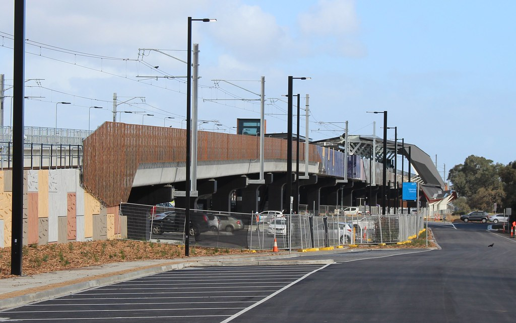 Mernda station viewed from the north