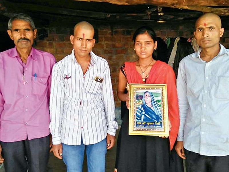 अमलाय पत्थर गाँव में कृष्णा देवी की कैंसर से मौत
