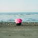 巧遇粉紅傘阿伯