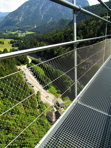 looking down below from Highline 179 in Reutte