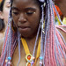 DSC_8554 Notting Hill Caribbean Carnival London Exotic Colourful Costume Girls Dancing Showgirl Performers Aug 27 2018 Stunning Ladies Pink and Purple Braids