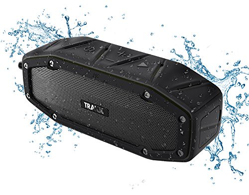 TRAKK BULLET Waterproof Bluetooth Speaker Featuring Next Generation MaxBass – The 10W+ Output Power Ultra Portable Wireless Speaker is Ideal for Golf, the Beach, the Pool, or the Shower – Black Review