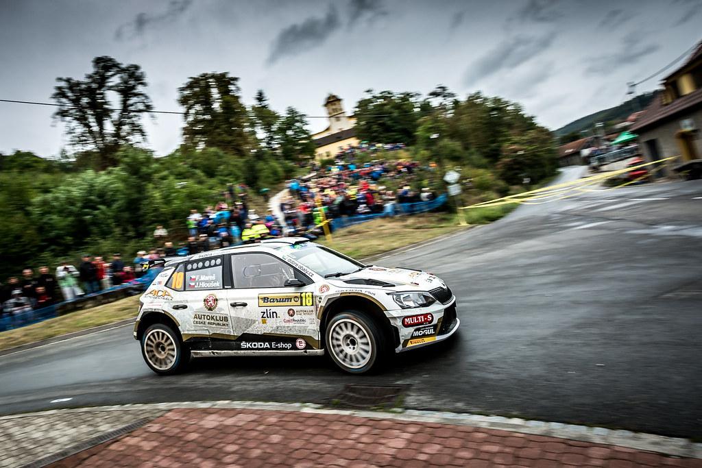 18 MareS Filip, HlouSek Jan, CZE/CZE, ACCR Czech Rally Team, Skoda Fabia R5, Action during the 2018 European Rally Championship ERC Barum rally,  from August 24 to 26, at Zlin, Czech Republic - Photo Thomas Fenetre / DPPI
