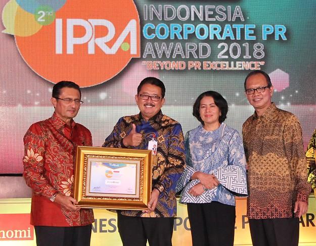 Bank DKI Terima Indonesia Corporate PR Award 2018