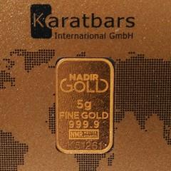 """Un recordatorio a todo el MUNDO, y en especial a los venezolanos: si el oro no lo tienes físico en tu mano, ¡no es tuyo! Por mucho que lo hayas pagado y te hayan dado un papelito que llaman """"certificado"""". En la imagen un lingote de oro físico de 5 gramos."""