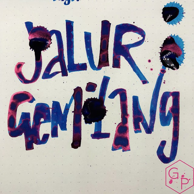 Pen Gallery Diamine Jalur Gemilang Ink Review 15