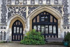 Butley Priory gatehouse (14th C.), Butley, Suffolk, England