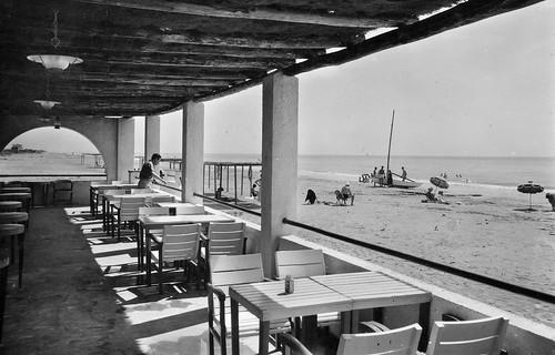 La platja des de l'hotel Miramar