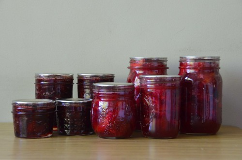 Pickled Italian Plums and Strawberry Kiwi Jam