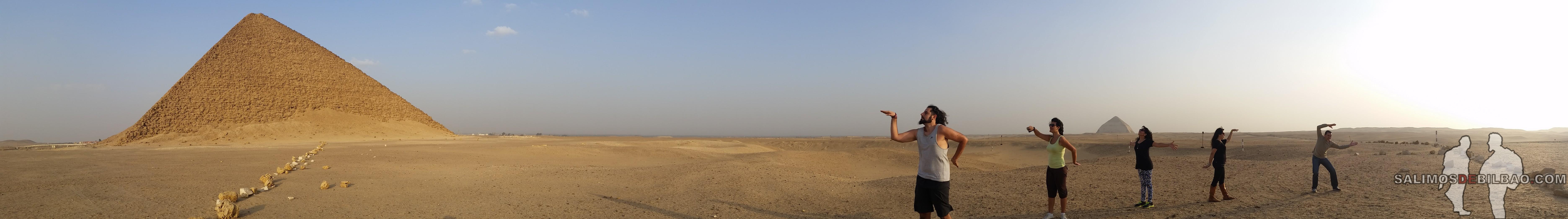 0238. Grupo, Pirámide roja de Saqqara 1