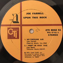 JOE FARRELL:UPON THIS ROCK(LABEL SIDE-A)