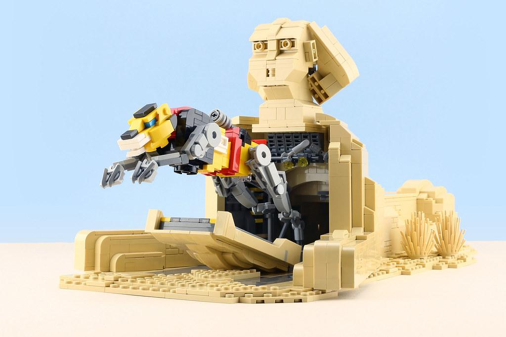 [MOC分享] VOLTRON Yellow Lion's Secret Base