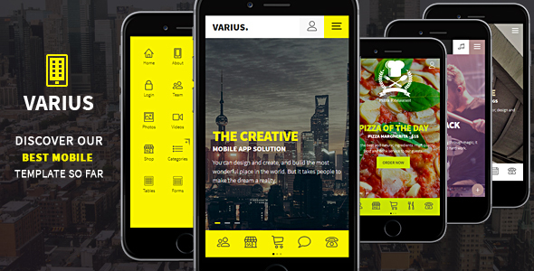 Varius – Mobile and Tablet Creative Template