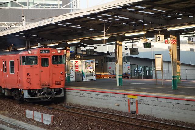 キハ47-19 岡山駅