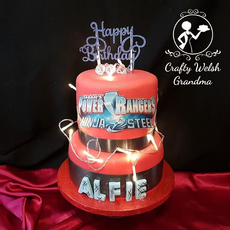 Fantastic Crafty Welsh Grandma Power Rangers Birthday Cake Personalised Birthday Cards Veneteletsinfo