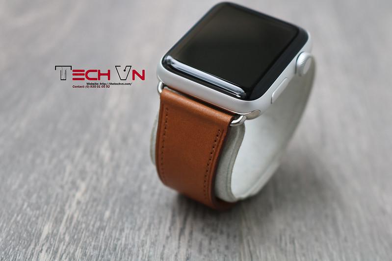 Techvn - Dây đeo apple watch Classic Buckle Brown 07