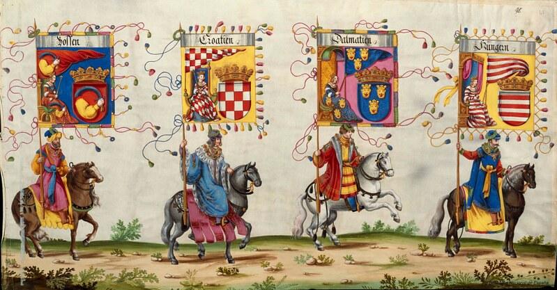 Triunfo del Emperador Maximiliano I, Rey de Hungría, Dalmacia y Croacia, Archiduque de Austria, XVI-XVII, f. 53, Biblioteca Nacional de España