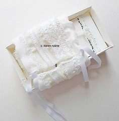 an embroidered sleeve for an artist book