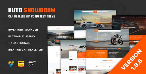 Auto Showroom v1.8.6 – Car Dealership WordPress Theme