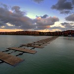 Dusk at Preston Docks