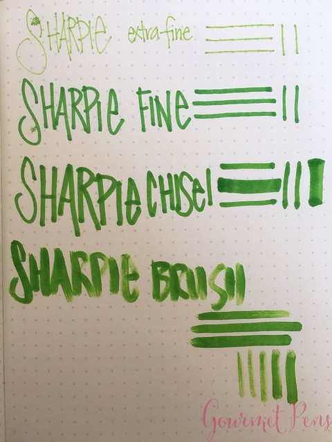 Sharpie Brush Pen @JetPens  12