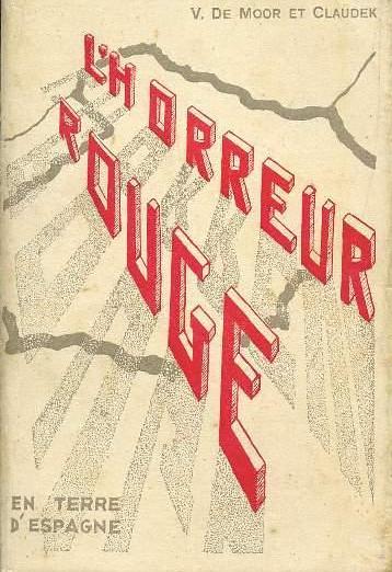 Portada de L´Horreur Rouge de Vincent de Paul Moor y Claudek (1938)