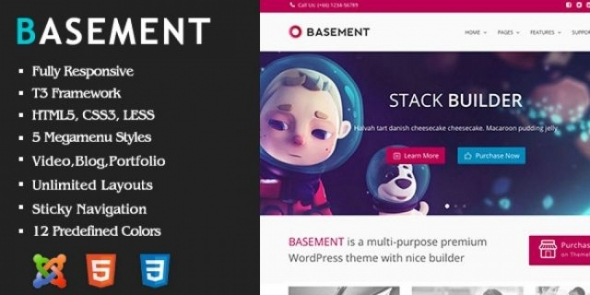 Basement v1.0 – Responsive Joomla Template