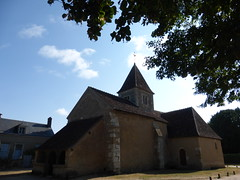 Nohant, Indre: l'église à côté de la maison de George Sand
